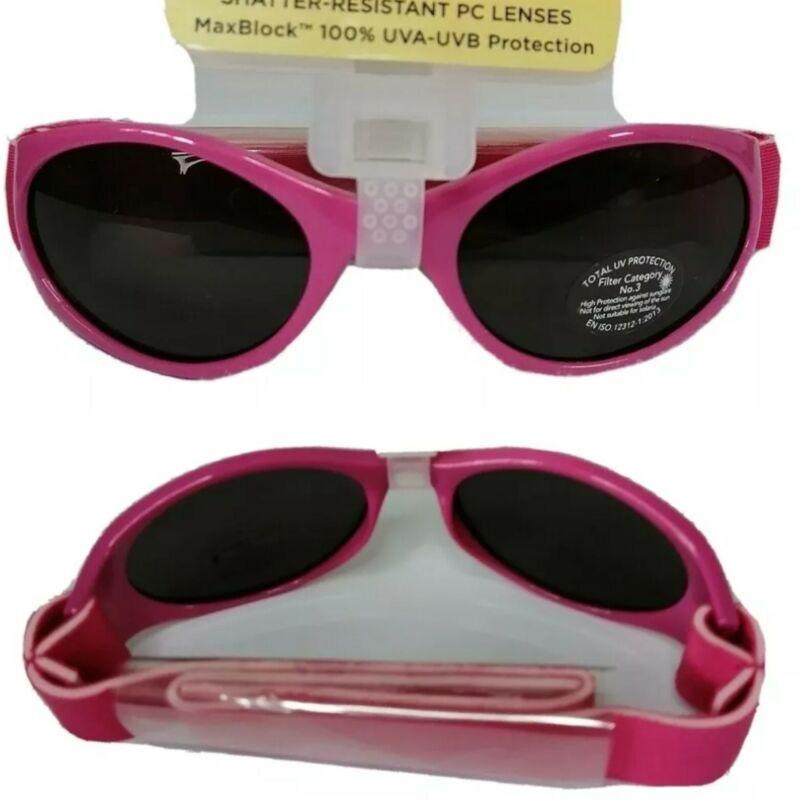 Girls+Baby+0-2yrs+Pink+Sunglasses+100%25+UVA+Protection+Kids+Adjustable+Head+Band