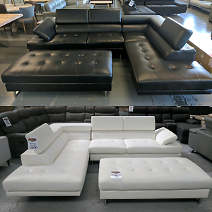 """The """"Eclipse"""" Chaise Leather Lounge - 40% off RRP Eumemmerring Casey Area Preview"""
