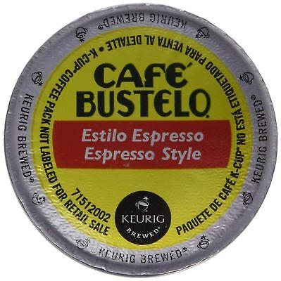 Keurig Cafe Bustelo Coffee Espresso K-Cups Cuban (18 count) FRESH -