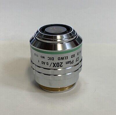 Nikon Cf Plan 20x .40 Bd Dic Elwd Infinity Microscope Objective