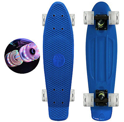 """Aqua Blue / LED Light Wheels  - 22"""" Penny Style SkateBoard - New COLLECT NOW !"""