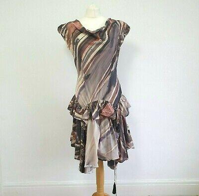 BOLONGARO TREVOR Amazing AllSaints Founders Designer Dress Ruffle Rustic Boho L
