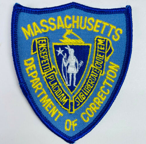 """Massachusetts Department Of Corrections MA DOC Patch (A5) 3.75"""""""