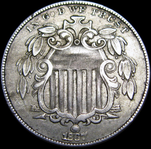 1867 Shield Nickel ---- TYPE COIN ---- #B343