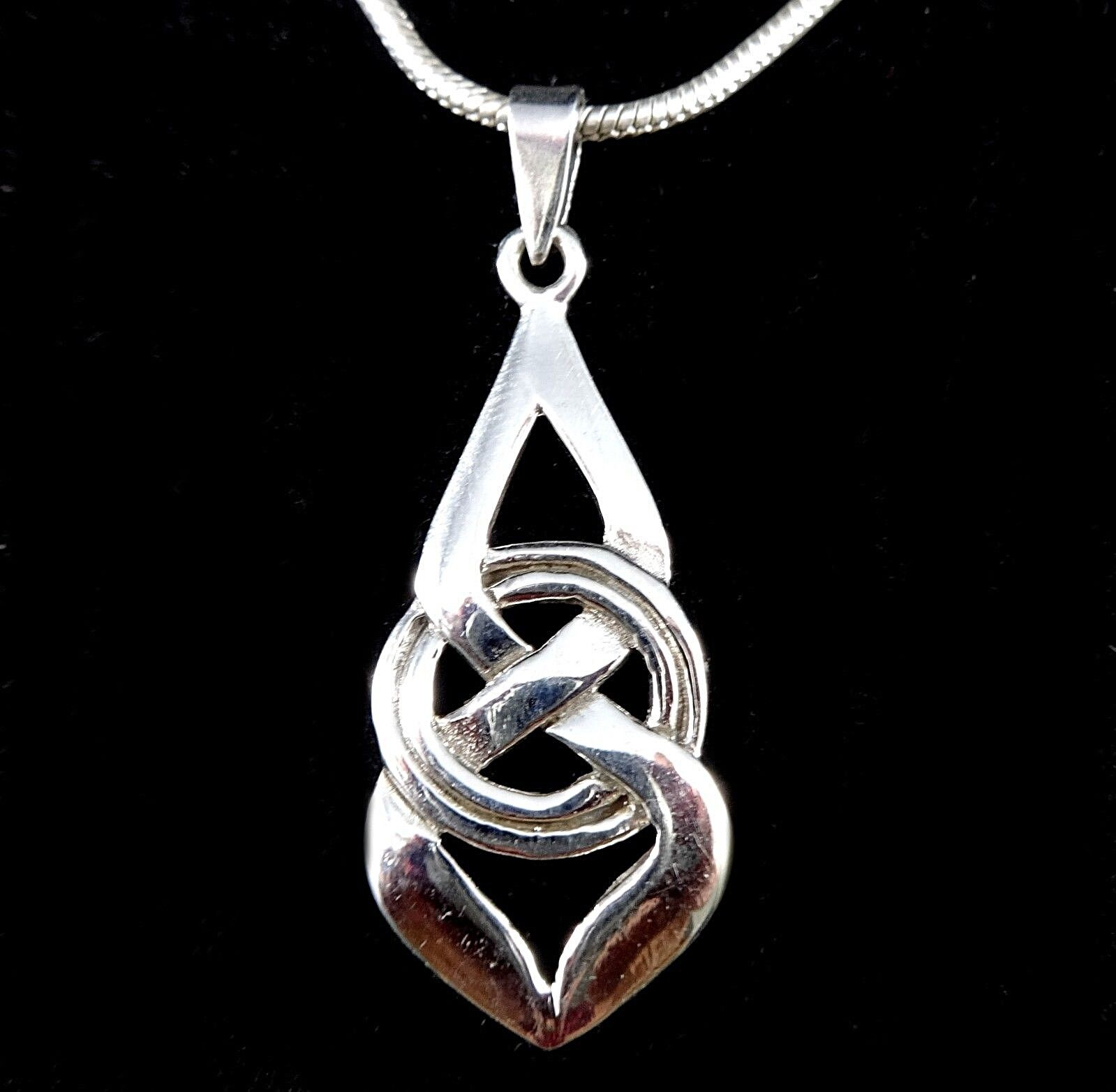 $14.95 - Handcrafted 925 Sterling Silver Celtic Knot Double Infinity ETERNAL LOVE Pendant