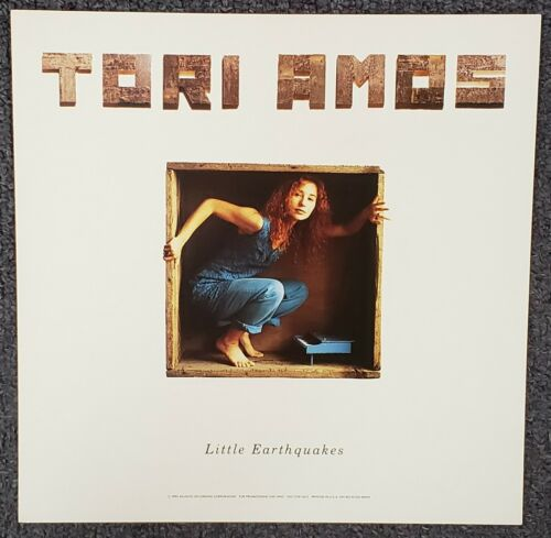 Tori Amos Little Earthquakes 1992 USA DOUBLE-SIDED CARDBOARD PROMO POSTER FLAT