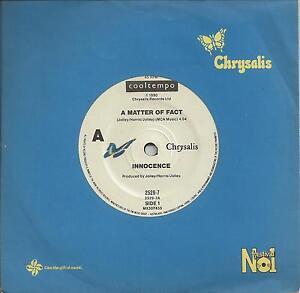 INNOCENCE-A-MATTER-OF-FACT-7-45-VINYL-RECORD-1990