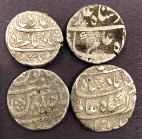 India - Mughal, Shah Alam Bahadur, Four Silver Rupees, 44.94g