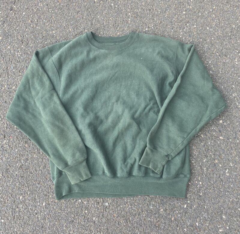 Vintage 90s Blank Champion Reverse Weave Crewneck Sweatshirt Size Large