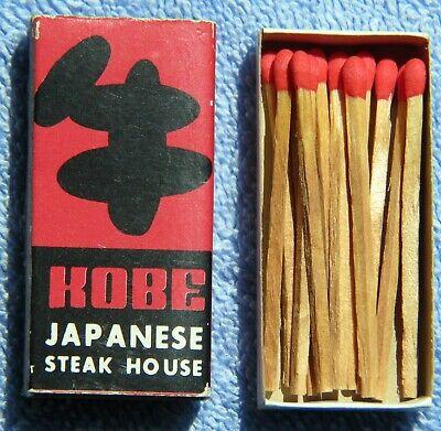 Vintage 1982 KOBE JAPANESE REST. Matchbox with 12 Stick Matches, Hawaii *Rare*