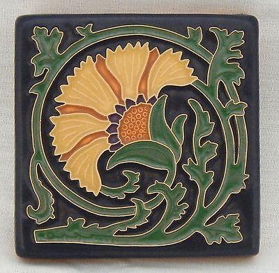 4x4 Arts & Crafts Carnation Tile in Golden by Arts & Craftsman Tileworks