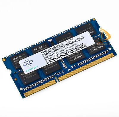 Nanya 8GB 2Rx8 PC3L-12800S DDR3L 1600Mhz SODIMM RAM Laptop Memory 204Pin 1.35V #