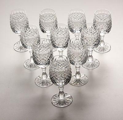 Edinburgh Crystal. 10 X Wine Glasses, Braemar Cut.