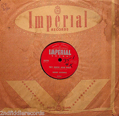 BOBBY MITCHELL-TRY ROCK AND ROLL-Museum Quality R&B Rockabilly 78-IMPERIAL (Rockabilly Museum)