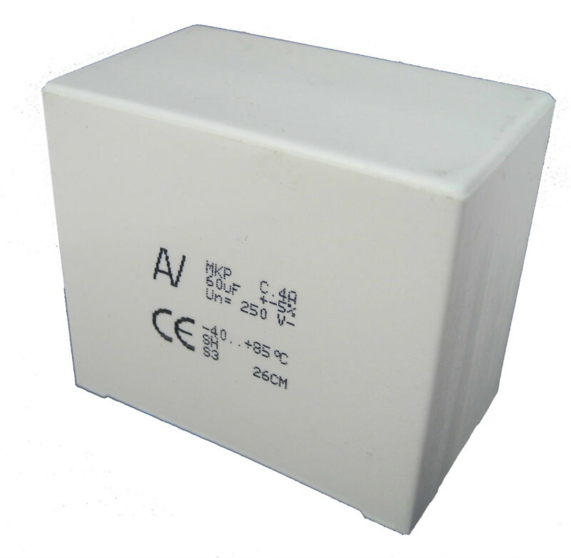 60uF 250VDC Non Polarized Film Capacitor: Use in Speaker Crossovers: Great Price