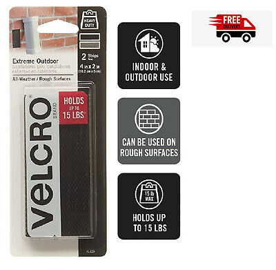 2 Sets Sticky Back Self Adhesive square Tape Hook Loop Black VELCRO Brand USA