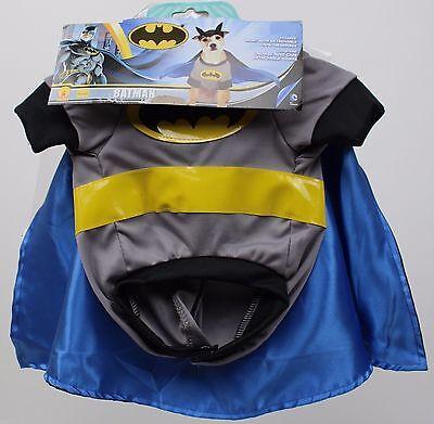 DC Comics Batman Pet Dog Costume Shirt with Detachable Cape & Eyemask Size - Dog Batman Cape