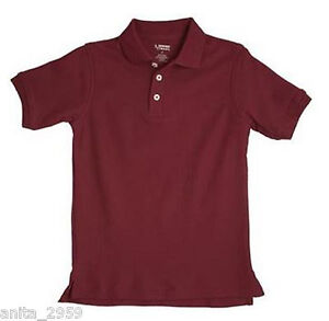 New french toast school uniforms boys sz 5 short sleeve Burgundy polo shirt boys