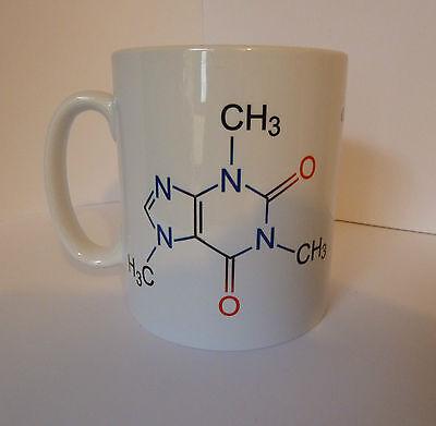 Caffeine Molecule Coffee Gift Cup Mug Present Science Teacher Student Chemistry - Science Cup