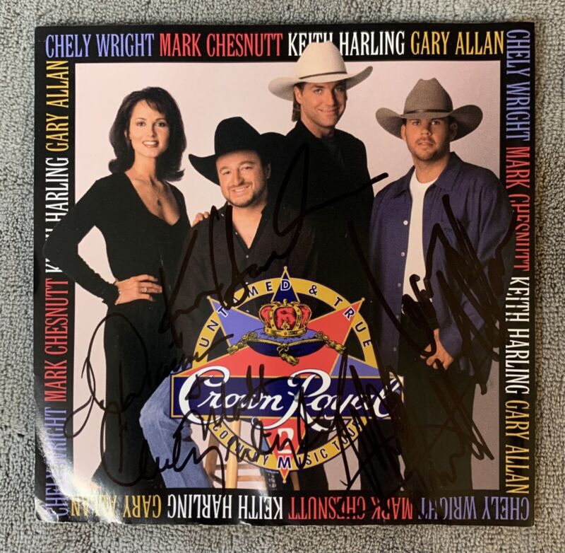 Gary Allan, Mark Chesnutt, Chely Wright & Keith Harling - Autographed CD