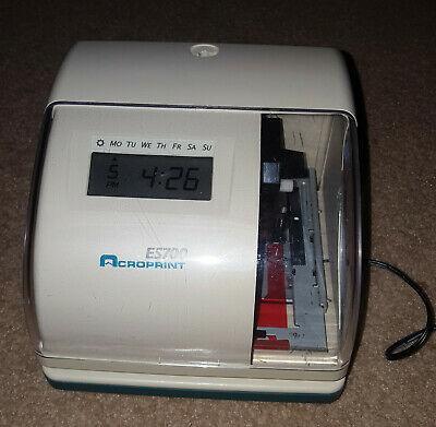 Acroprint Es700 Time Clock Punch Es 700 Acro Print Digital Recorder Stamp Works