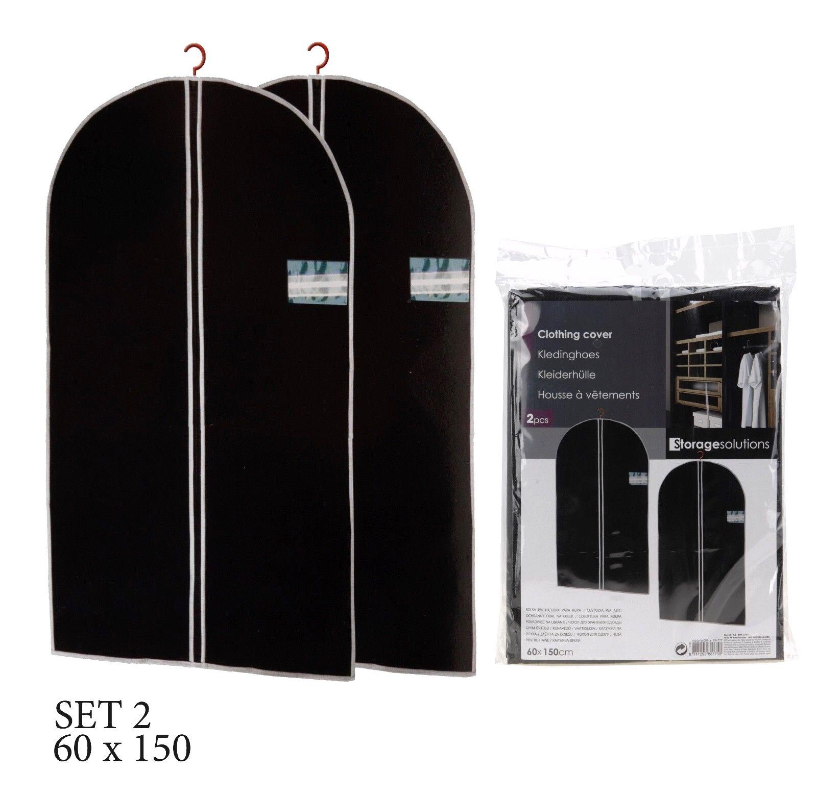 2 - 10 Kleidersack Kleiderhülle Schutzhülle Kleider Hülle Kleiderschutz 60x150cm