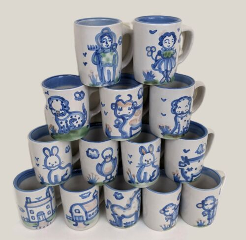 MA Hadley Handmade Pottery Coffee Mugs 6 Oz Price is an Individual Mug Price
