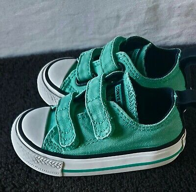 Converse All Star Infant/Toddler Size 4 Green Low Shoes