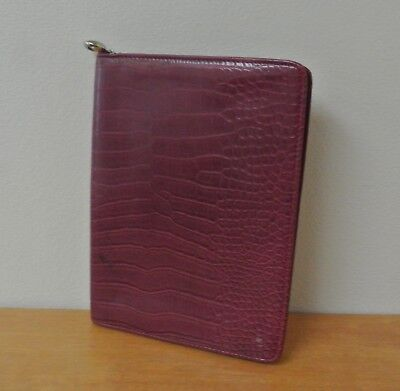 Red Faux Croc Reptile Dayone By Franklin Covey Classic Wirebound Planner Cover