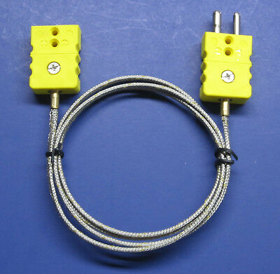 Professional K-type Thermocouple Extension Cable Wire Standard Connector 3-18 Ft
