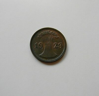 WEIMAR: 2 Rentenpfennig 1923 D, J. 307, fast stempelglanz !!!