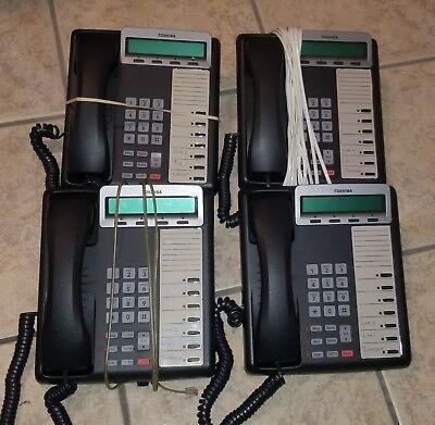 Lot Of 4 Toshiba Dkt-3207-sd Dkt-3207sd Dkt3207sd Digital Business Display Phone