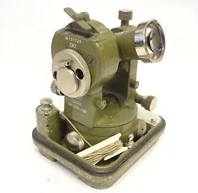 Antique Vintage Rare Mint Kern Aarau Dk1 Theodolite Cased Surveying Equipment