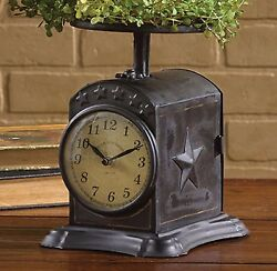Park Designs Favorite Black Star Scale Table Clock