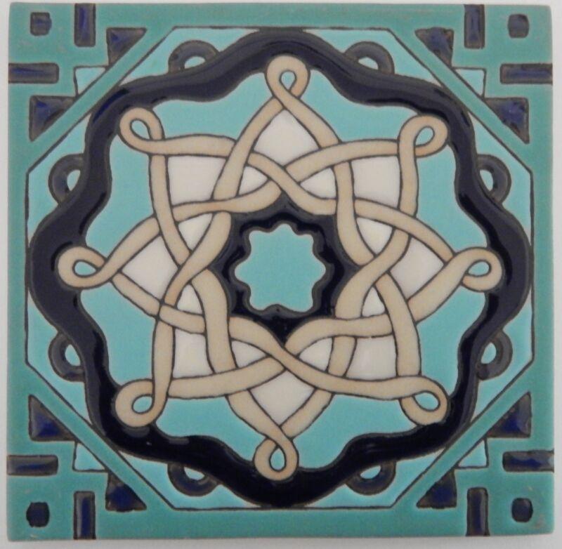Mexican Tiles High Relief Ceramic Cuerda Seca Malibu Santa Barbara Tiles 6x6 602