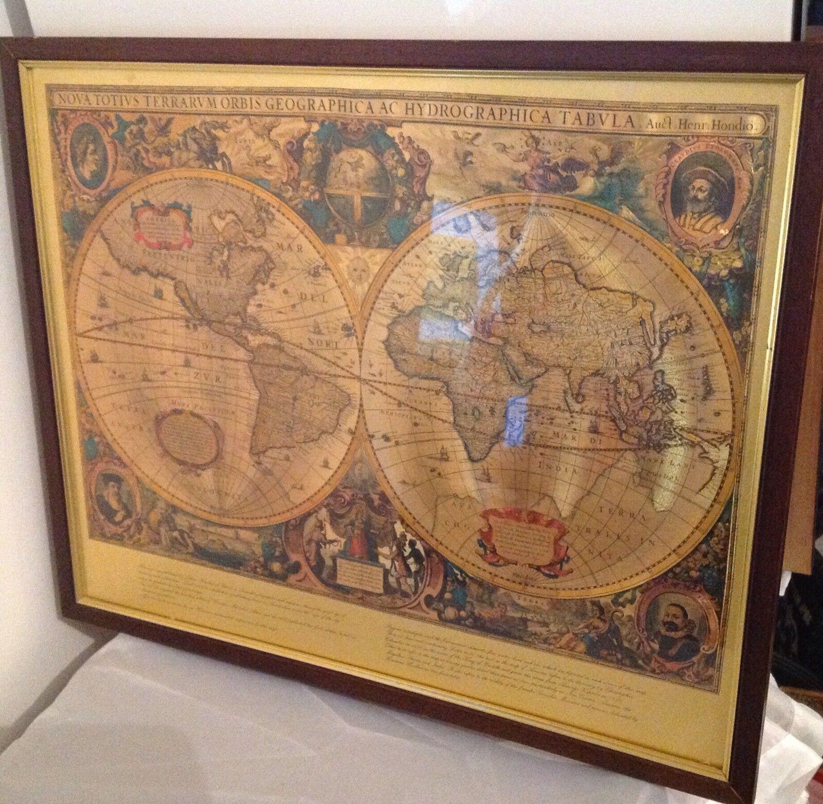 20x28 1660 World Map Nova Totius Terrarum Orbis Tabula