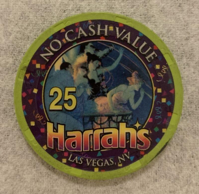 Las Vegas Harrah's Casino 25 NCV Chip — Play Till You Lose — Live