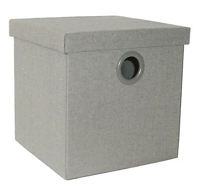 Flax Box - Scatola guardaroba pieghevole con coperchio - Colore Grigio - Scatole