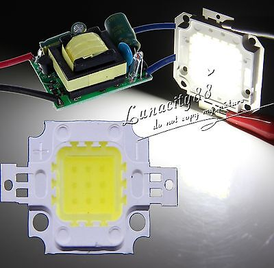 10w Cool White 900lm Smd Led Chips Light 10w High Power Driver Power Supply