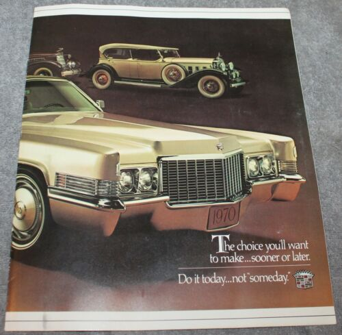VINTAGE 1970 CADILLAC CAR DEALER SALES BROCHURE FLEETWOOD ELDORADO DEVILLE