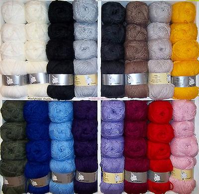 Woolyhippo Quality Soft Chunky 100% Acrylic Baby Wool 100g Knitting Crochet Yarn