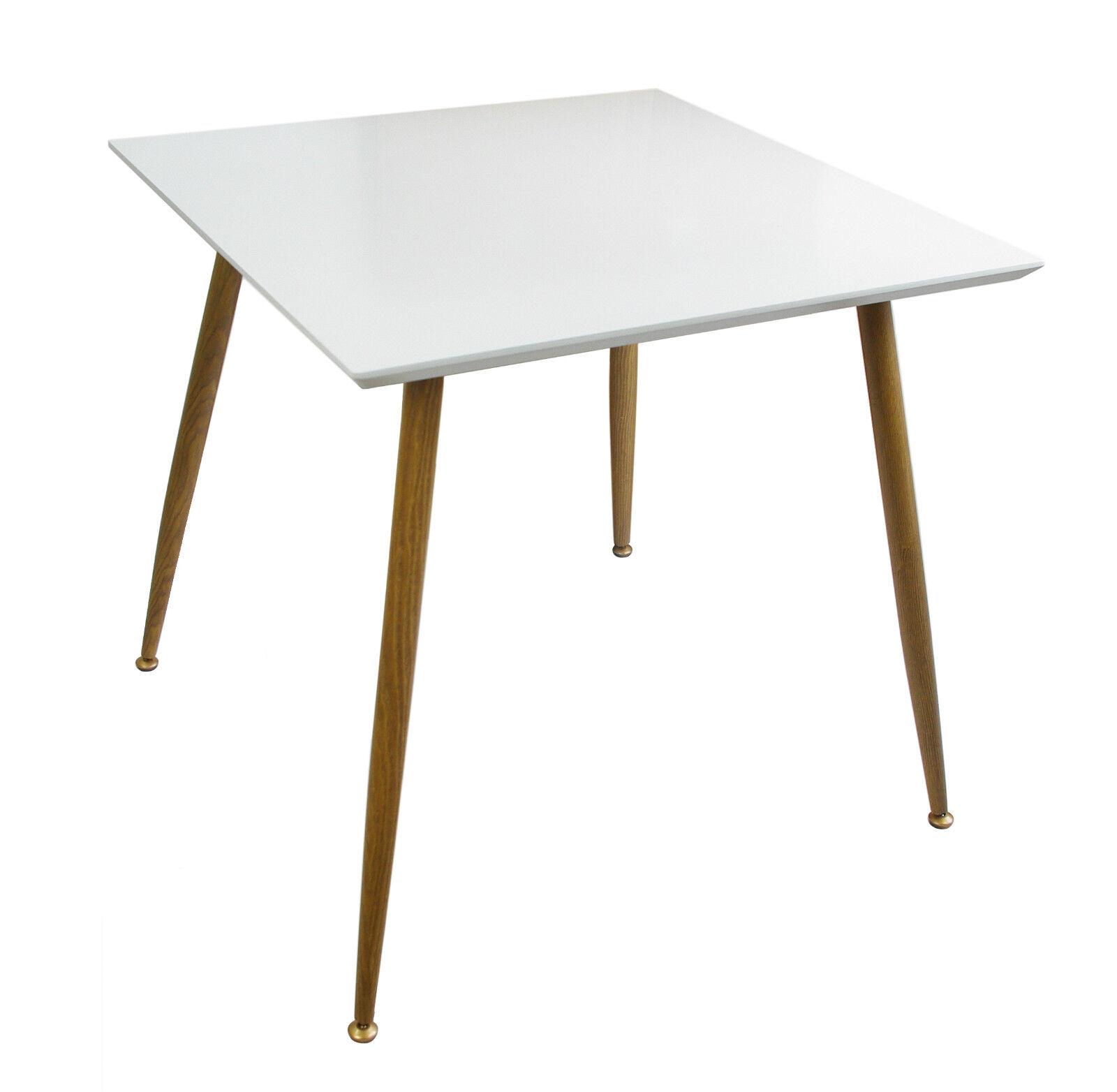Esstisch Schreibtisch ~ Tisch Esstisch Küchentisch Schreibtisch 80x80cm Holz Platte + Metall Beine H2
