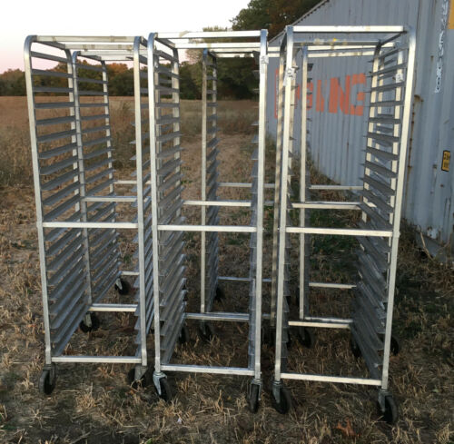 Aluminum Full Size 20 Shelf Sheet Pan Rack Cart winco bun baking