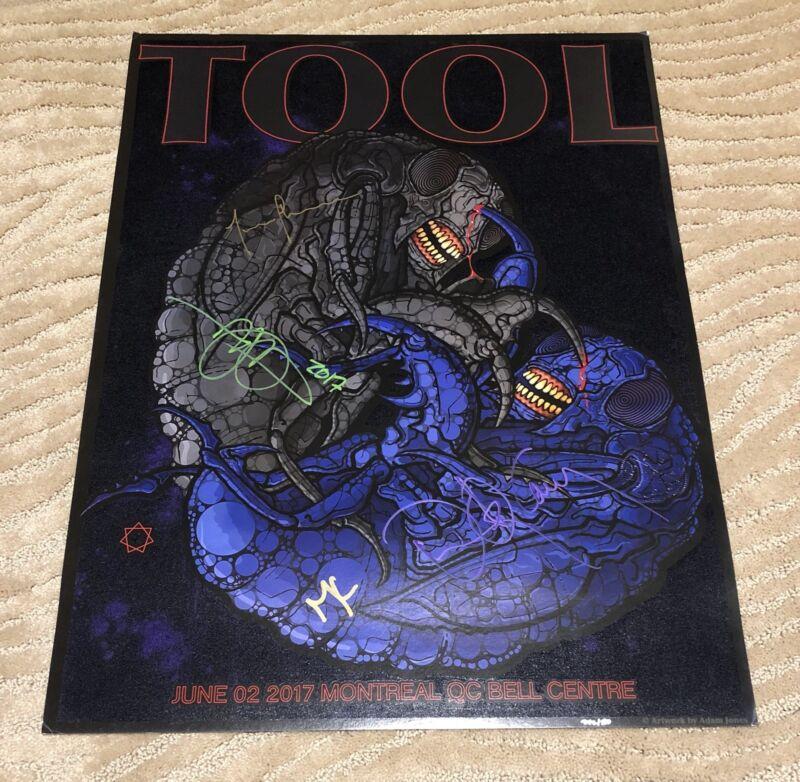 Tool Band Signed Montreal 2017 /500 NA Tour Poster Adam Jones Art Autograph