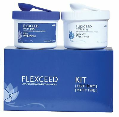 3 X Gc Dental Flexceed Putty Without Light Body..long Expiry