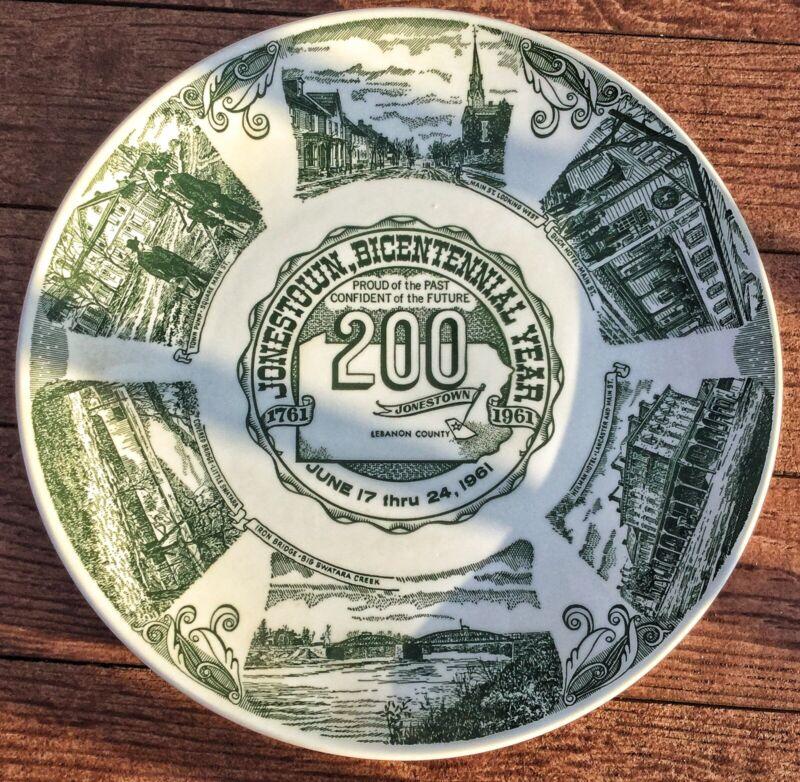 Vintage KettleSprings Kilns Jonestown Bi-Centennial Anniversary 1961 Glass Plate