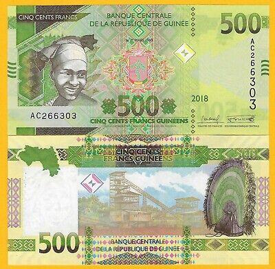 UNC scarved woman // banana harvest 2012 see UV image Guinea P35c 100 Francs