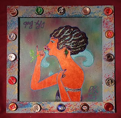 BURLESQUE QUEEN Classic New Orleans Louisiana Outsider Folk Art by DR. BOB