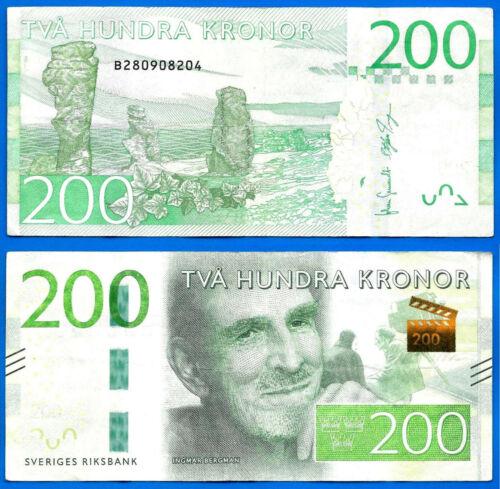 Sweden 200 Kronor 2015 Sveriges Ingmar Bergman Europe Free Shipping Worldwide