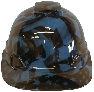 Light Blue Hard Hat (Hydro Dipped Hard Hat Ridgeline Cap Style Custom Light Blue Midnight)